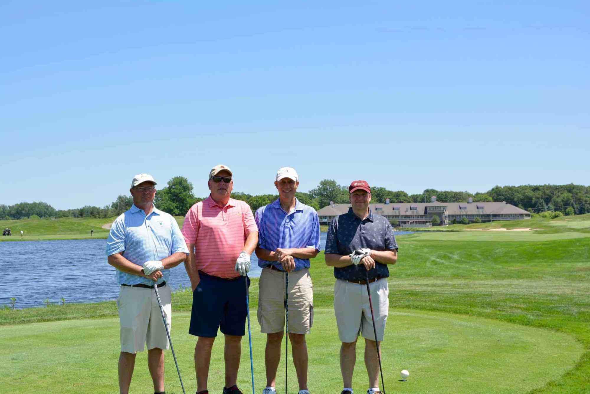 LUMBERMEN'S - BEST BALL 1st PLACE (Left to right): Steve Petersen, Roger Vanderheide, Henry J. Bouma, Dale Bryant