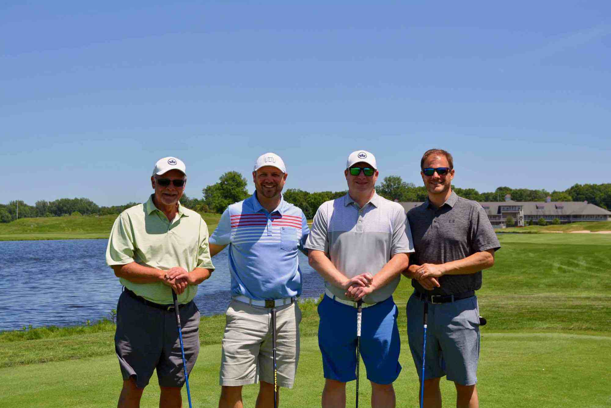 WINDEMULLER ELECTRIC, INC. - SCRAMBLE RUNNER-UP (Left to right): Chuck Alles, Steve Alles, Josh Alles, Tim Alles