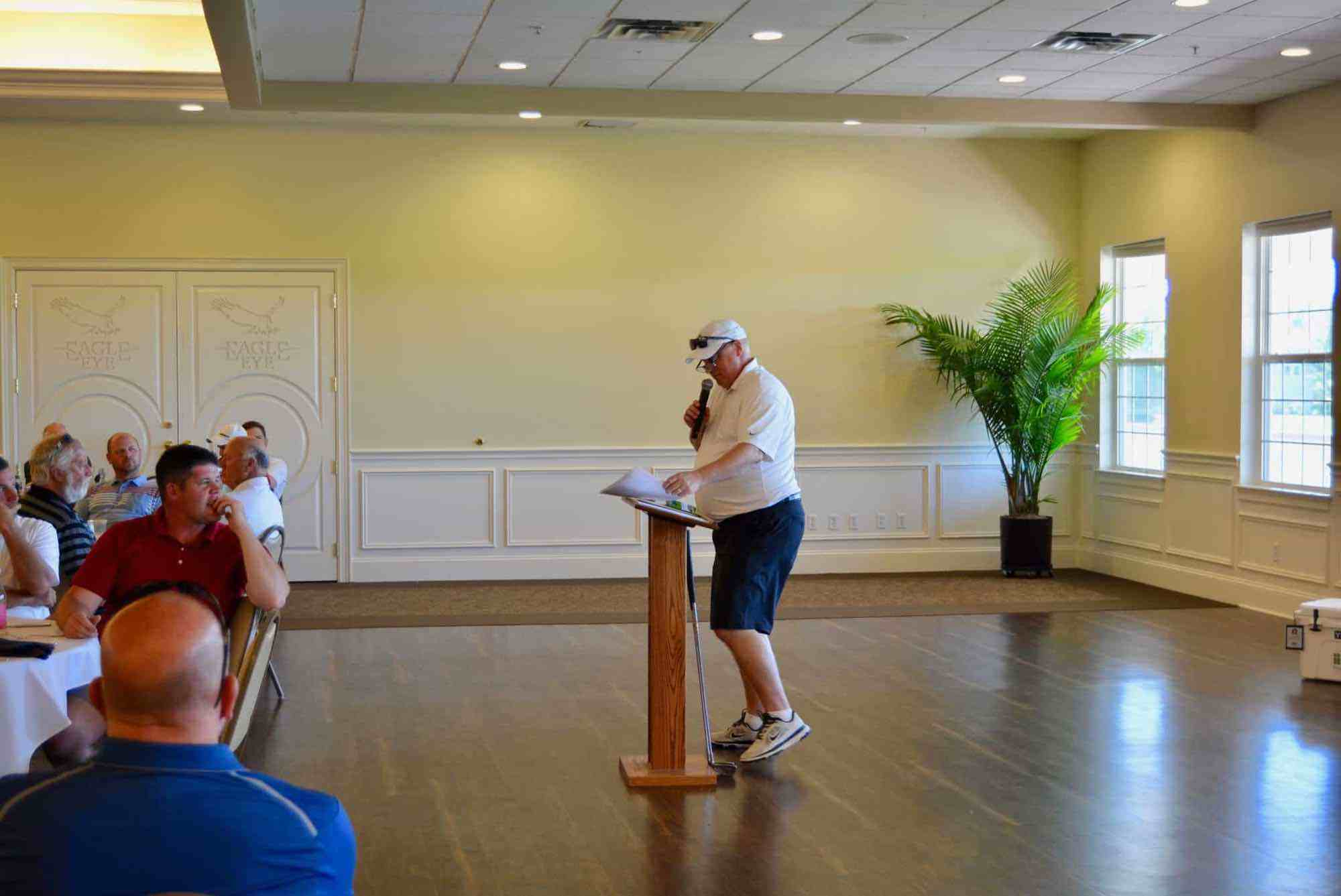 Pine Rest VP & COO Bob Nykamp welcomes golfers