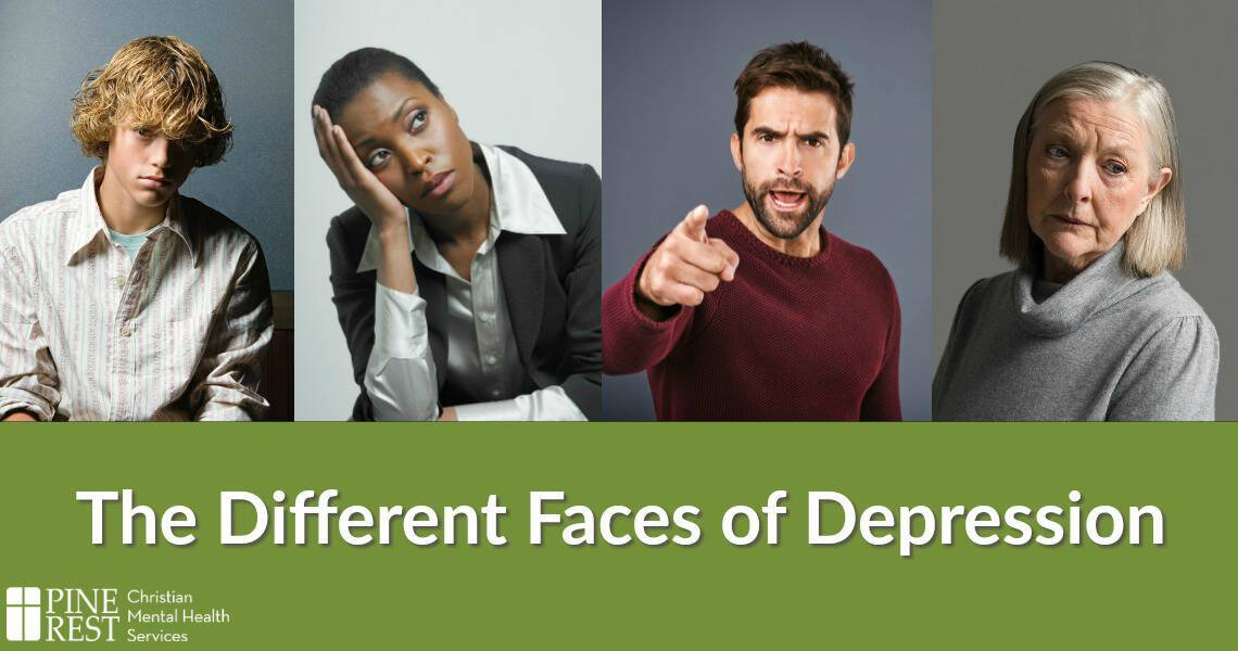 Four people all with different negative facial expressions
