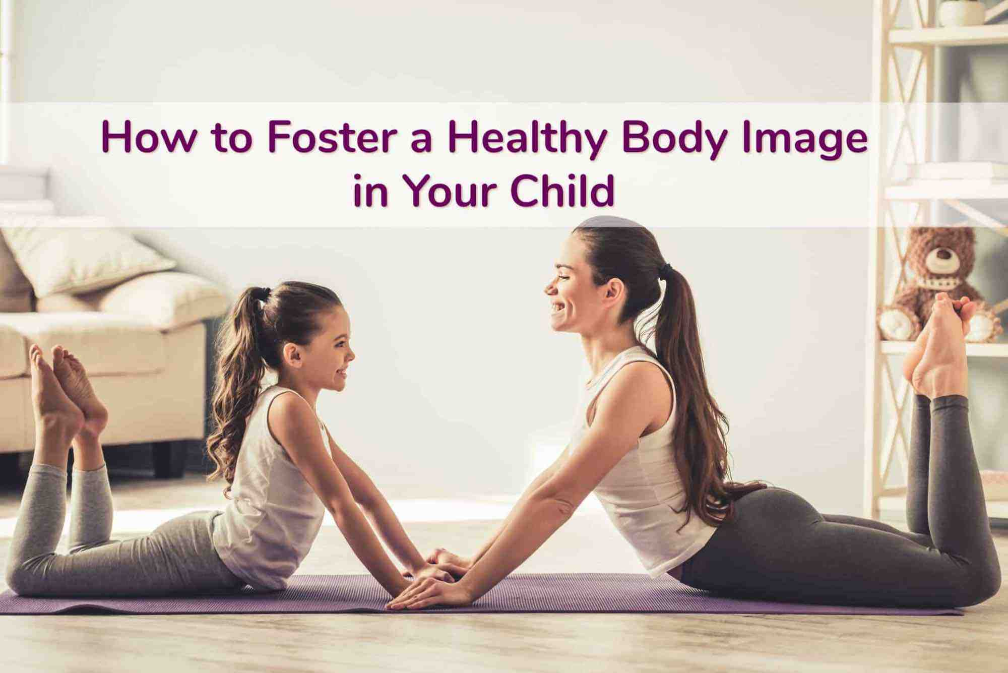 Mom & Young Daughter in identical yoga poses