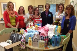 The Kent District Library set up collection sites for baby and wellness items for patients of the Mother and Baby Program.