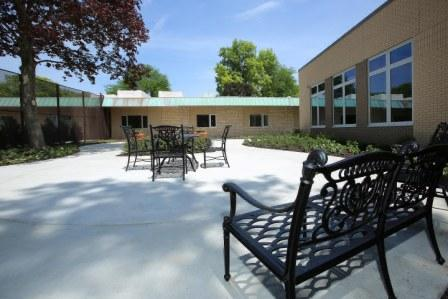 Older Adult unit courtyard