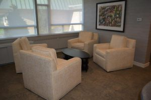 Lounge area in the Psychiatry Residency Suite