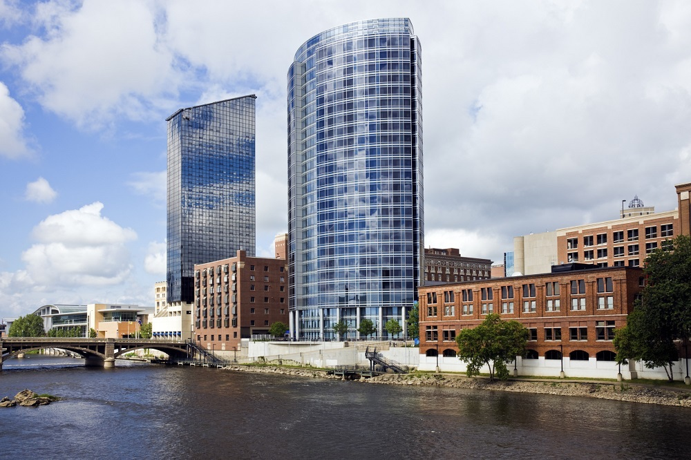 downtown Grand Rapids riverfront